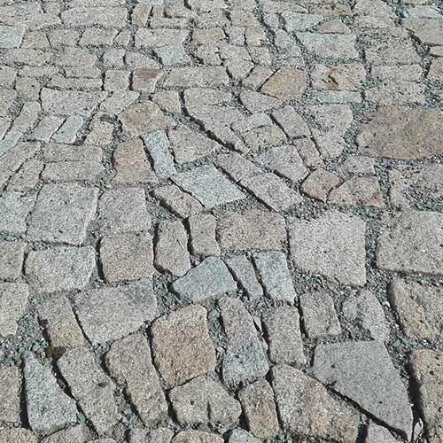 Pavés pierre reconstituée en opus