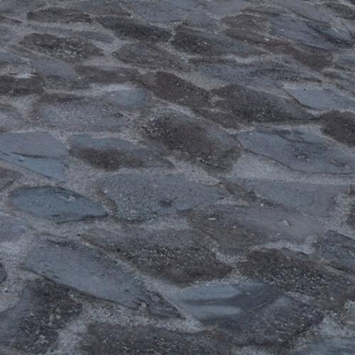 Pavés en roche volcanique