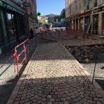 Rue Crozatier - Travaux de pavage STPP du Velay